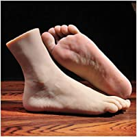 LUCKFY 1 Pair Silicone Lifesize Male Man Mannequin Foot Display Jewerly Sandal Shoe Sock Display Photography Props Art Sketch