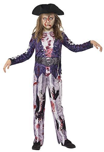 Smiffys Kinder Jolly Rotten Pirat Mädchen Kostüm, Oberteil, Hose und Hut, Größe: S, 45620