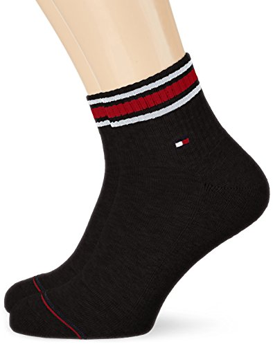 Tommy Hilfiger Herren Socken TH Men Iconic Sports Quarter 2P, 2er Pack, Schwarz (Black 200), 43/46
