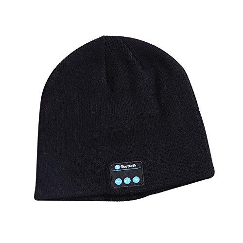Amorar Unisex Bluetooth Beanie Wireless Beanie Hut stricken Hut Musik Cap (Beanie Hut Cuff Stricken)