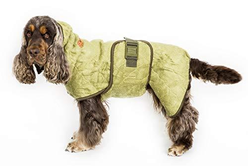 Siccaro Hundemantel WetDog   Extrem saugstarker Bademantel für Hunde   Anti-bakterielle Wirkung   Reduziert Gerüche   Waschmaschinen und trocknergeeignet (Bamboo, S)
