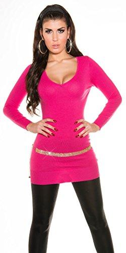In-Stylefashion - Robe - Femme Beige Beige Rose - Rose bonbon