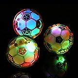 mAjglgE Glänzendes LED-Licht mit Blinkender Musikkugel, Fußball, Baby-Spielzeug, zufällige Farbe