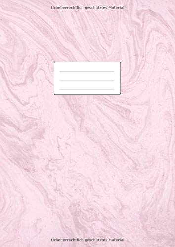 NOTENHEFT DIN A4 BLANKO: 110 Seiten | 55 Blatt | Musik Unterricht Komposition | Schule + Studium | 12 Systeme mit Seitenzahlen | Marmor Rosa (Buch-charts Rose)