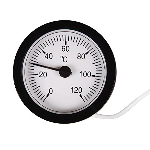 prettygood7Wasser Liquid Thermometer Kapillar Temperatur Gauge Sensor Zifferblatt Fernbedienung Lesung mit Kapillarrohr