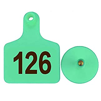 100pcs TPU Laser Curve Cattle Ear Tag Tagger Copper Head green with number 100pcs TPU Laser Curve Cattle Ear Tag Tagger Copper Head green with number 41QuY6fUzFL