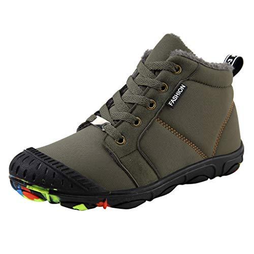 Rokoy Scarpe da Escursionismo Scarpe Scarponi da Neve Invernali Piatto Pelliccia Stivali Sneaker Sportive Esterne Scarpe da Arrampicata -Unisex-Bambini Shoes Trekking Scarpe da Cotone