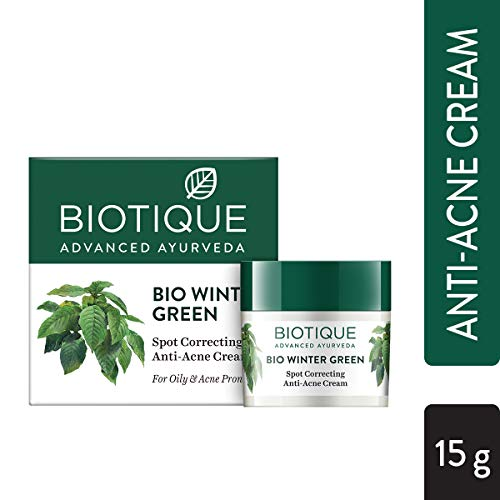 Buy Biotique Bio Winter Green Spot Correcting Anti Acne Cream, 15g online in India at discounted price