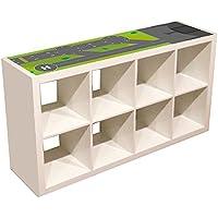 Preisvergleich für Möbelaufkleber Landebahn - passend für das IKEA KALLAX Regal - Kinderzimmer Spieltisch - Möbel nicht inklusive