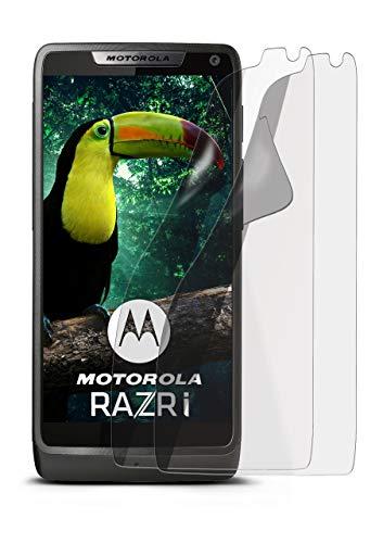 2X Motorola RAZR i | Schutzfolie Matt Bildschirm Schutz [Anti-Reflex] Screen Protector Fingerprint Handy-Folie Matte Bildschirmschutz-Folie für Motorola RAZR i Bildschirmfolie