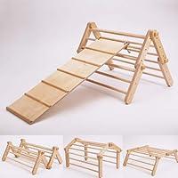 Triangle de Pikler modifiable Mopitri, structure d'escalade / Pikler triangle for climbing WITH A CLIMBING / SLIDING RAMP