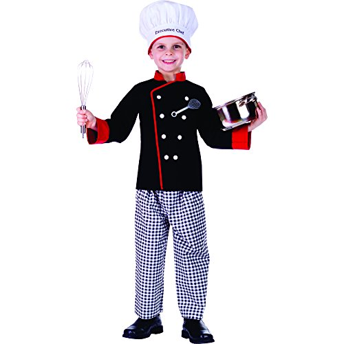 Black Hosen Chefs (Dress Up America Kochkoch Kostüm)