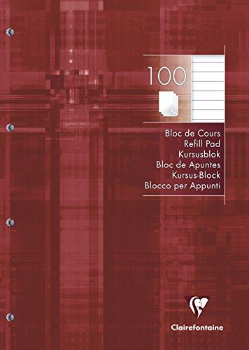 Clairefontaine 25818C Kursusblock A4, liniert, 90 g, DIN A4, 100 Blatt