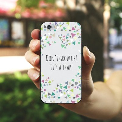 Apple iPhone X Silikon Hülle Case Schutzhülle Sprüche Muster Dreiecke Silikon Case schwarz / weiß