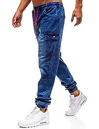 BOLF Jeans – Jogger – con Coulisse – Imitazione della Cerniera – con Stemma  – con ombreggiature di Moda – con… 34173bf642d