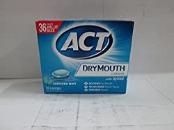 ACT Total Care Dry Mouth Lozenges Mint 36 Count Per Box (3 Boxes)