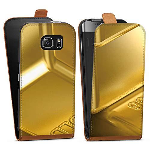 DeinDesign Tasche Hülle Flip Case kompatibel mit Samsung Galaxy S6 Goldbarren Gold Barren