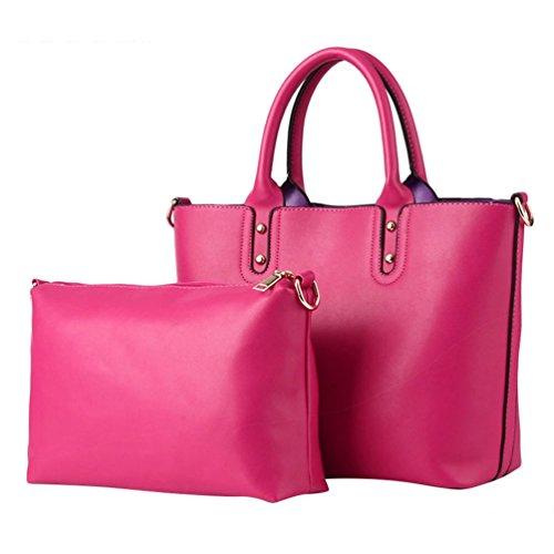 Donna Elegante Set da Baymate Rose A Tracolla Tote Bag 2 Pezzi Borsa v6Edqw