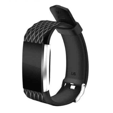 OPTA SB-037 Black Bluetooth Smart Heart Rate Band with Basic Blood Pressure and Fitness Health Sport Bracelet compatible with Samsung, IPhone, HTC, Intex, Vivo, Mi, One Plus and many others! Launch Offer!!