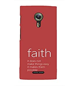 EPICCASE Faith makes it possible Mobile Back Case Cover For Alcatel One Touch Flash 2 (Designer Case)
