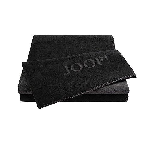 JOOP! Uni-Doubleface Wohndecke schwarz (150x200 cm) Art. 90737