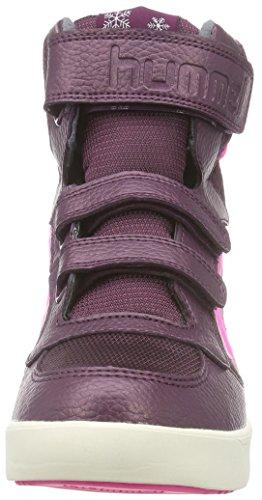 Hummel - Hummel Stadil Super Hi Poly Jr, Sneaker Bambina Rosso (Rot (Grape Wine 3506))