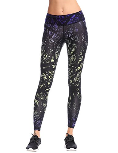 JIMMY DESIGN Damen Leggins Printed Hose Lange - Star Kunst Printed/019 - 36 (Herstellegröße M)