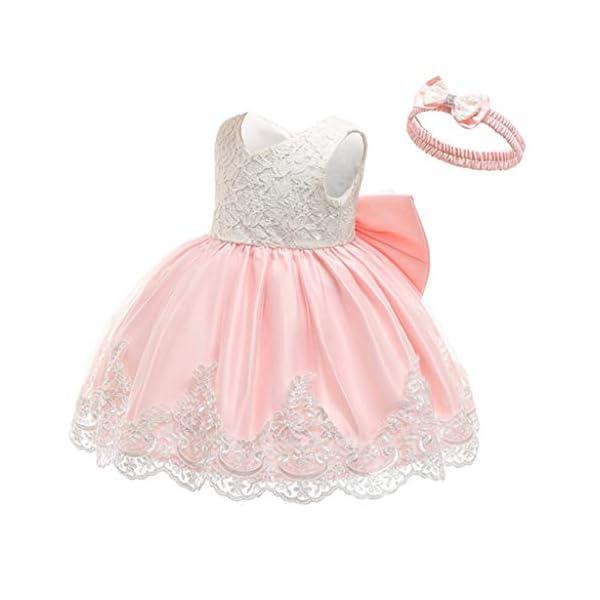 YGbuy Vestido de Novia de Encaje Bordado sin Mangas para Niñas Vestido de Princesa Vestido de Falda + Conjunto de… 3