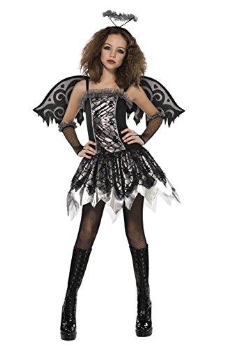 Halloween gefallener Engel Kostüm für junge Mädchen 164/170 (14-15 (Kostüm Jungen Kinder Engel Für)
