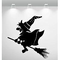 Aufkleber - Wandtattoo ***Hexe/Witch - Nr.14*** (Größen und Farbauswahl)