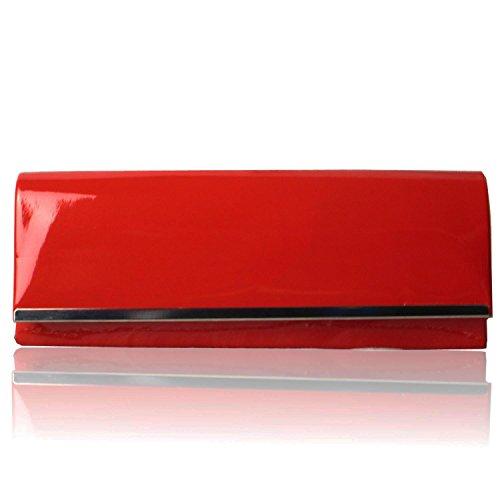 Zarla Custodia Patent-Borsa da donna, per abiti da sera Sera UK Rosso (rosso)
