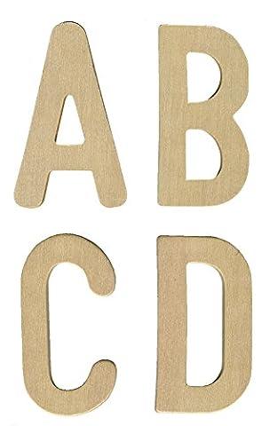 Lettres Majuscules en bois - Set de 27