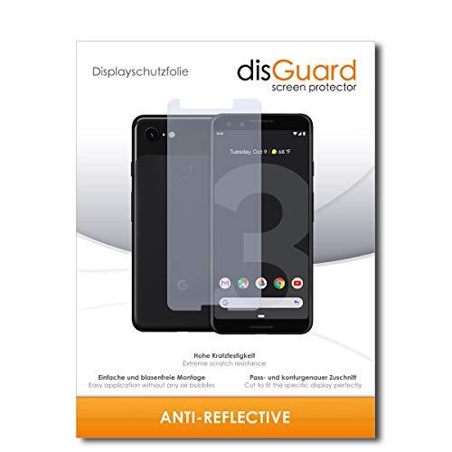 disGuard® Bildschirmschutzfolie [Anti-Reflex] kompatibel mit Google Pixel 3 [2 Stück] Entspiegelnd, Matt, Antireflektierend, Extrem Kratzfest, Anti-Fingerabdruck - Panzerglas Folie, Schutzfolie