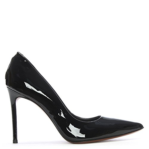 DF By Daniel Skycrambe Black Patent High Court Shoes