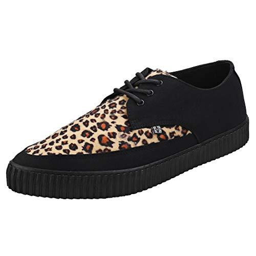 Zapatilla De Deporte De Mujeres De T.U.K. Shoes Hombres Imitación Leopardo Piel Acentuado Enredadera EU43 / UKM9