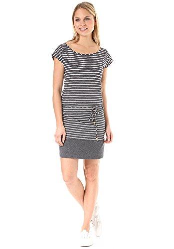 Schuhe Navy Damen Blau Kleid (Soho Stripes Kleid Größe: L Farbe: Navy)