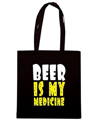 T-Shirtshock - Borsa Shopping BEER0039 Beer Medicine Nero