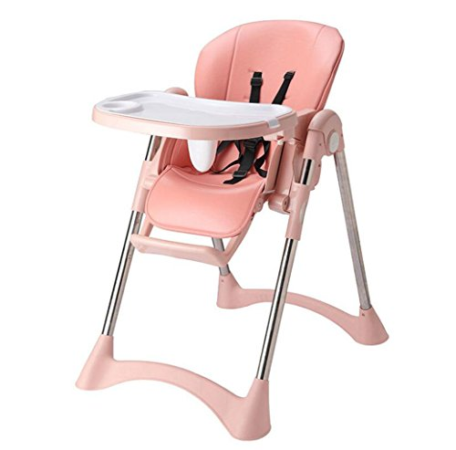 JBHURF Kinder Esszimmerstuhl Multifunktionale Baby Klappstuhl Verstellbare Datei Baby Essstuhl Portable Essecke (Farbe : Pink, größe :...
