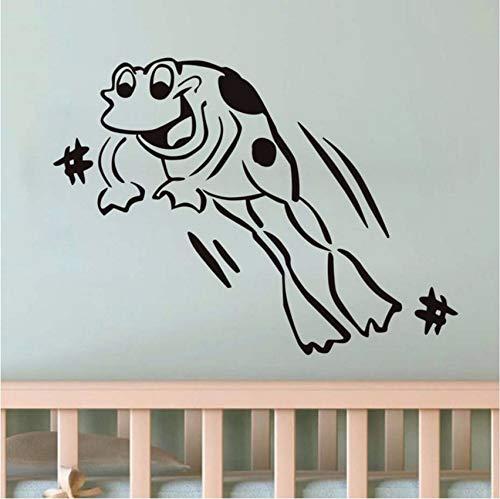 d583fc814 Fushoulu 44X32 Cm Happy Leaping Frog Decal Vinilos De Pared Vinilo  Extraíble Pegatinas De Dormitorio De