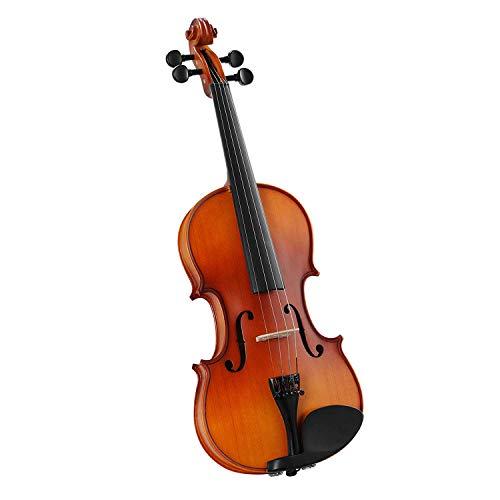 LAGRIMA Geige/Violine Größe 4/4 Violine für Einsteiger natürlichen Massivholz mit Harten Fall Kinnhalter Bogen