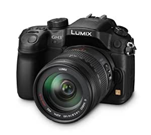 Panasonic Lumix DMC-GH3HEB-K Compact System Digital Camera with 14-140mm Lens - Black (17.2 MP, 4x Digital Zoom)