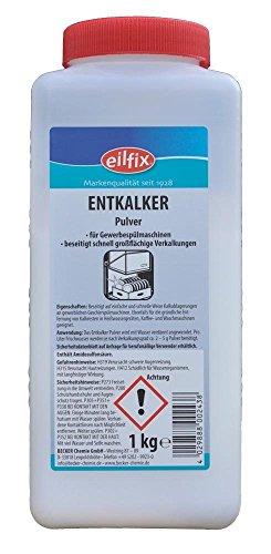 eilfix Entkalker Pulver - Hochkonzentrat gegen Kalk - 1 .000 g - 1 Dose - Alkalische Wasser-tropfen