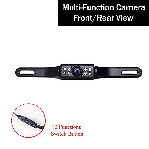 12-24V KFZ Kennzeichen Rückfahrkamera Multifunktionale Kamera: Rückfahr/Front, PAL/NTSC, Rasterlinien Distanzlinie ON/Off, 8 LED Automatik Nachtsicht 170 Grad Einparkhilfe -