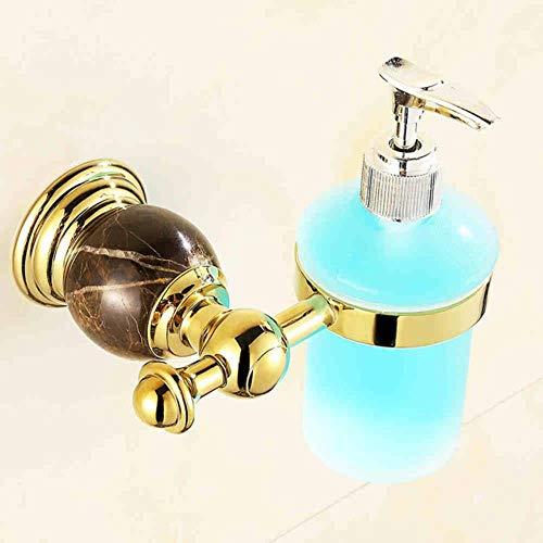 Marmor Parfüm (KKRIIS Jade Mode vergoldet Seifenspender Bad Flüssigkeit Händedesinfektionsmittel Flasche Marmor Parfüm Flasche Bad Hardware-Zubehör, Gold)
