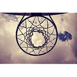 Bilderdepot24 Papier Peint intissé - Panier de Basket - Vintage - 225x150 cm - pâte Inclus - Tableau Mural - Affiche Murale - Images murales