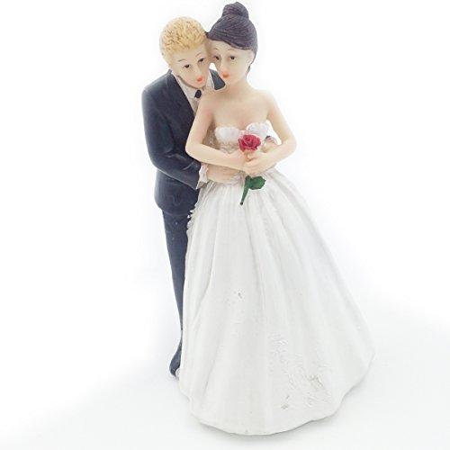 E-muse cake topper matrimonio coppia di sposi sposami 5 pollici altezza