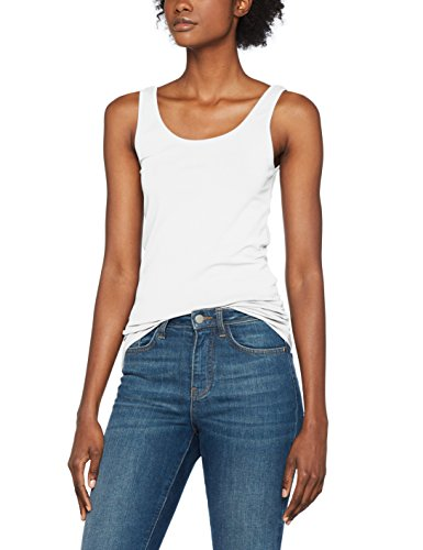 ONLY Damen Onllive Love New Long Tank Top Noos Weiß (White)