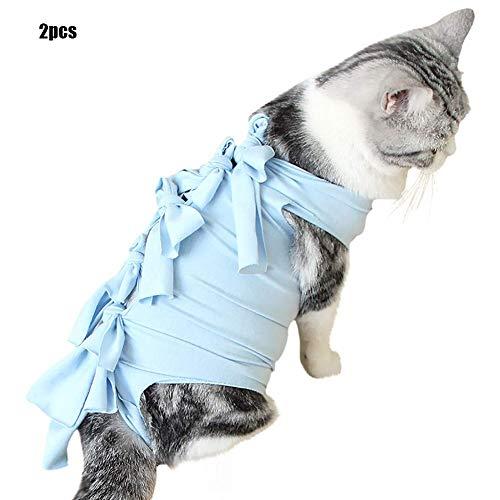 Cacoffay Medizinisch Haustier Chirurgisch Schlinge Weste Professionel Wiederherstellung Passen zum Bauchmuskeln oder Haut Krankheiten, Alternative zum Katzen und Hunde,Kleider zum das Zuhause,Blue,S -