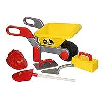 Polesie Polesie50229 Building Wheelbarrow Filled Construct-Summer Toys-5-Pieces, Multi Colour