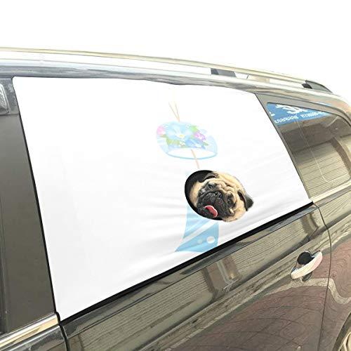 Rtosd Schöne Wind Bell Glockenspiel Faltbare Hund Sicherheit Auto Gedruckt Fenster Zaun Vorhang Barrieren Protector Für Baby Kind Einstellbar Flexible Sonnenschutzabdeckung Universal Fit Für SUV (Bell Zaun)